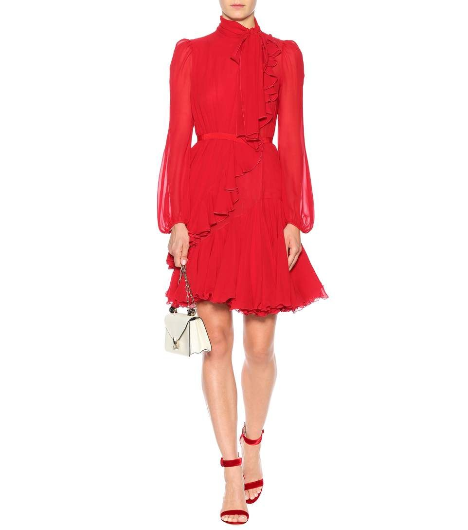 Ruffled Silk Dress | Giambattista Valli - mytheresa.com