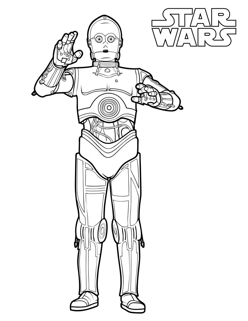 C 3po Coloring Pages Best Coloring Pages For Kids Star Wars Coloring Sheet Star Wars Drawings Star Wars Art Drawings [ 1060 x 820 Pixel ]