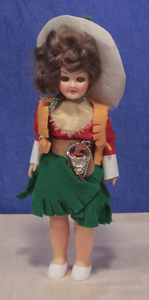 PERFECT CONDITION WITH STAND WEST POINT CADET FEMALE VINTAGE CARLSON DOLL