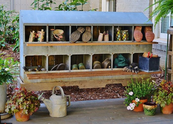 Chicken Nesting Box Retro Fit Boot And Garden Storage Unit DIY   Redeem  Your Ground