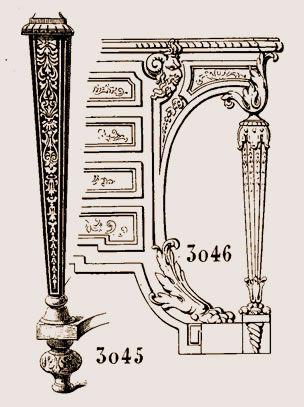 La figure 3045, montre un pied de support, époque de Louis XIV