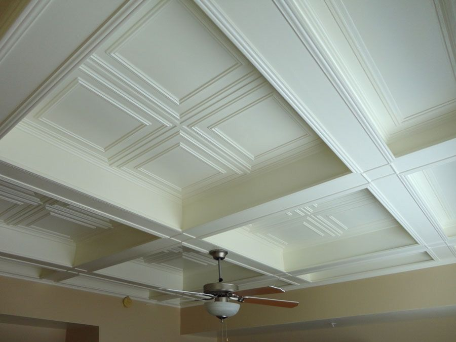 We Used Ceilume Tiles As An Insert To Coffered Ceilings In Two Rooms The Ceilume Tiles Were Rigid And Easy To Work With With A Large Coffered Ceiling Ceiling