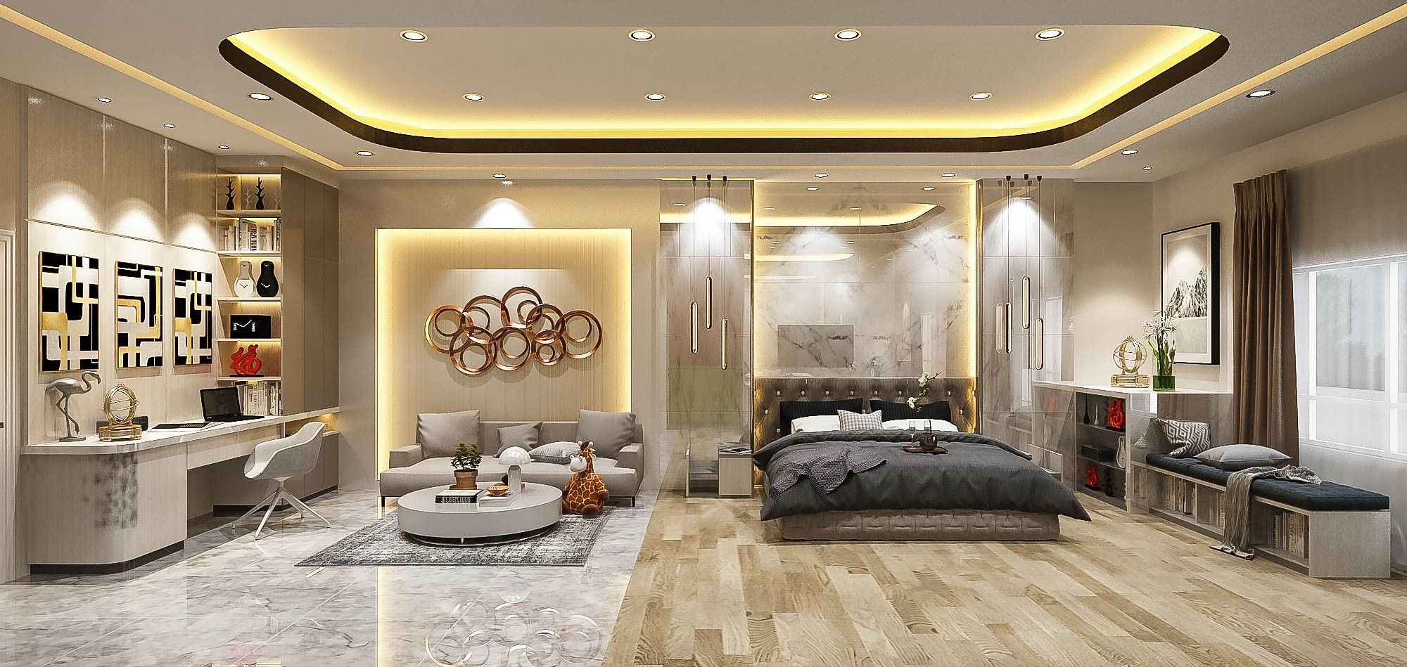 Master Bedroom Design Elegant Luxury White Theme Kamar Mewah Kamar Tidur Mewah Interior Rumah Mewah Elegant luxury room design