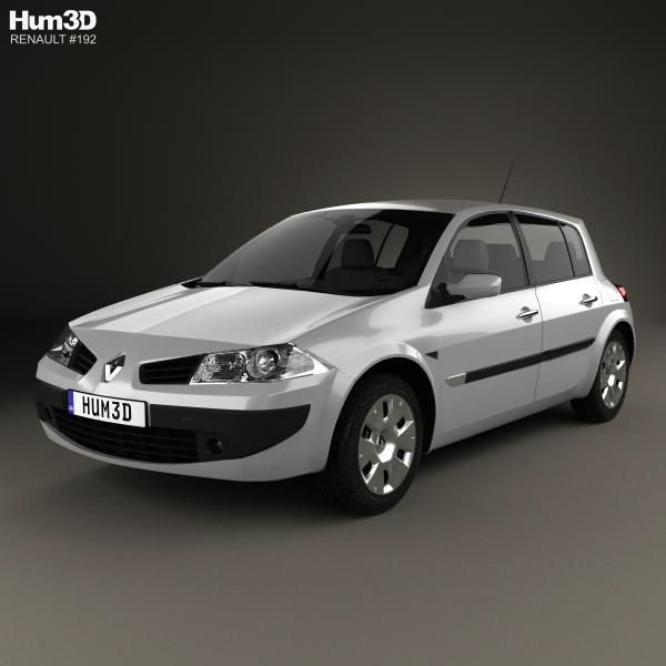 Renault Hatchback: 3D Model Of Renault Megane 5-door Hatchback 2006