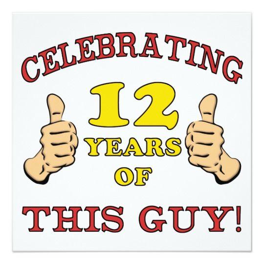 Funny 12th Birthday For Boys Card