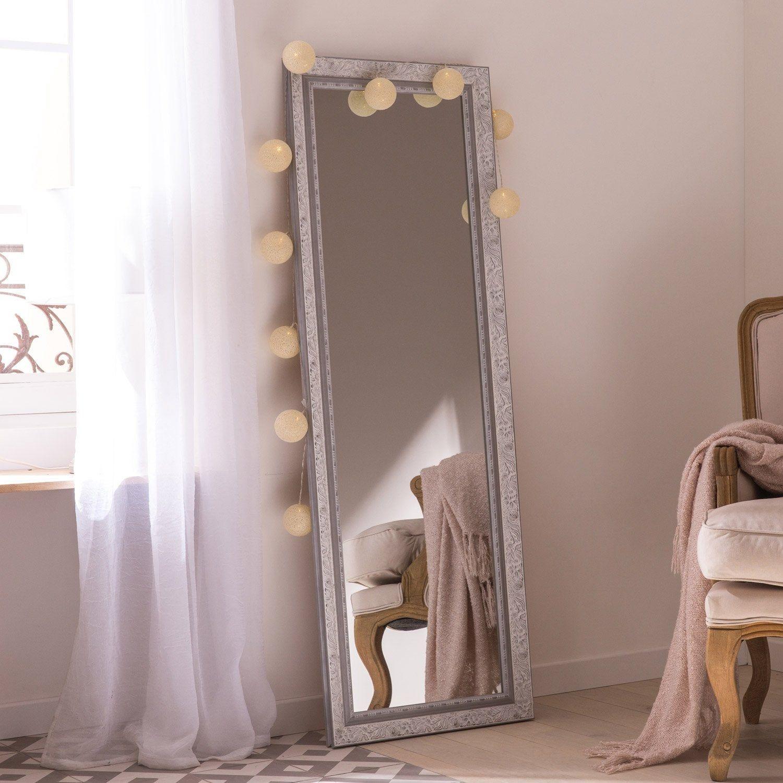 Miroir Rectangulaire Louise Gris L 52 2 X H 152 2 Cm Miroir Rectangulaire Miroir Chambre Miroir Gris