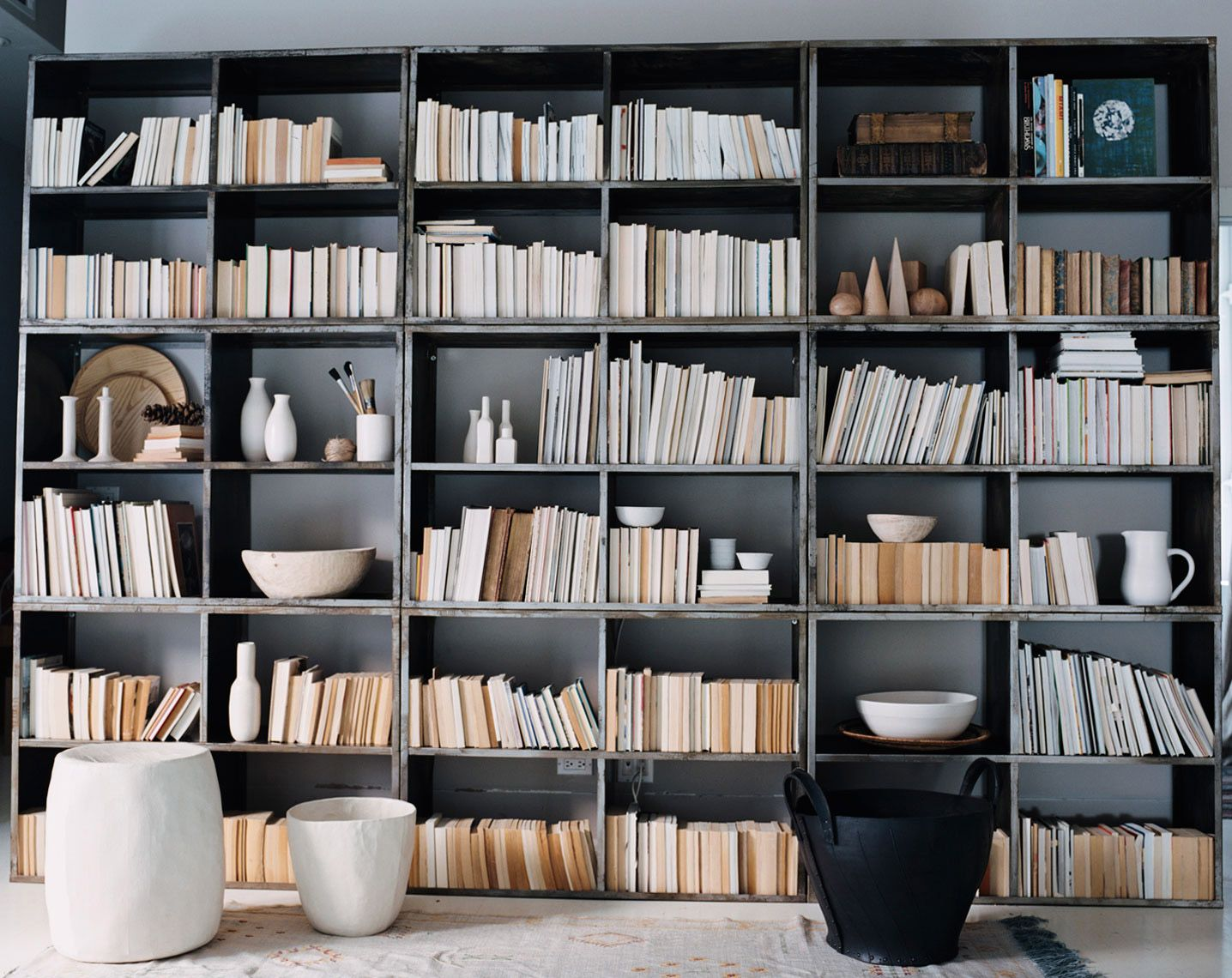Pottery and books: a perfect marriage in the hands of interior stylist Hilary Robertson