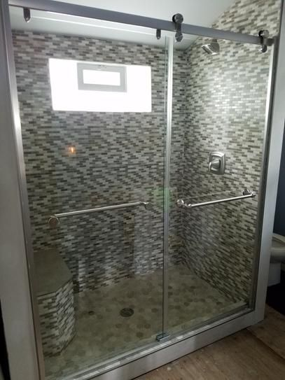 Delta Mandara 60 In. X 71 In. Semi Framed Contemporary Style Sliding Shower