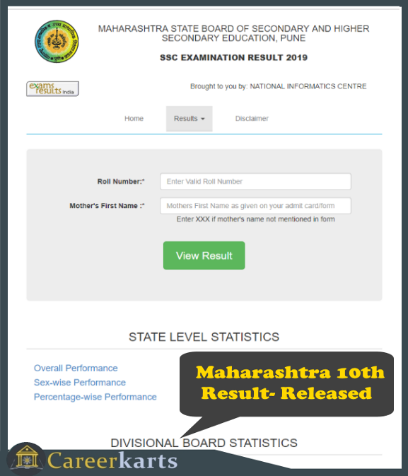 Maharashtra Ssc Result 2019 The Maharashtra State Board Of