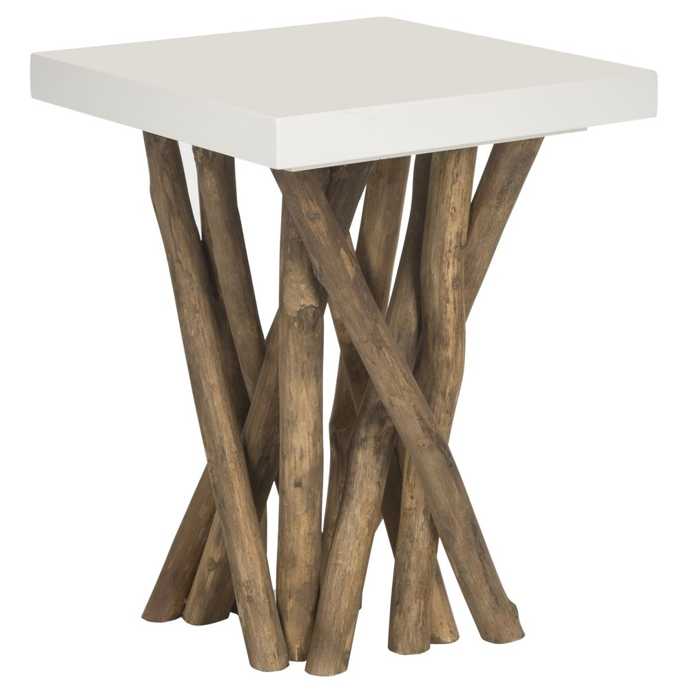 Safavieh Hartwick White End Table Overstock Com Shopping