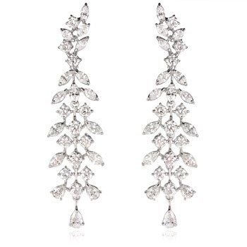 Diamond 18k white gold chandelier earrings jewelry pinterest diamond 18k white gold chandelier earrings aloadofball Choice Image