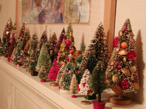vintage bottle brush collection via americanharvest Christmas