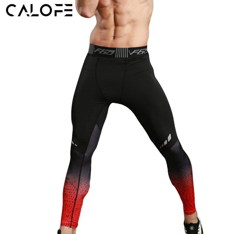 19f876e124c79e Men Sports Leggings Sportswear Gradient Printed | Football | Tight ...
