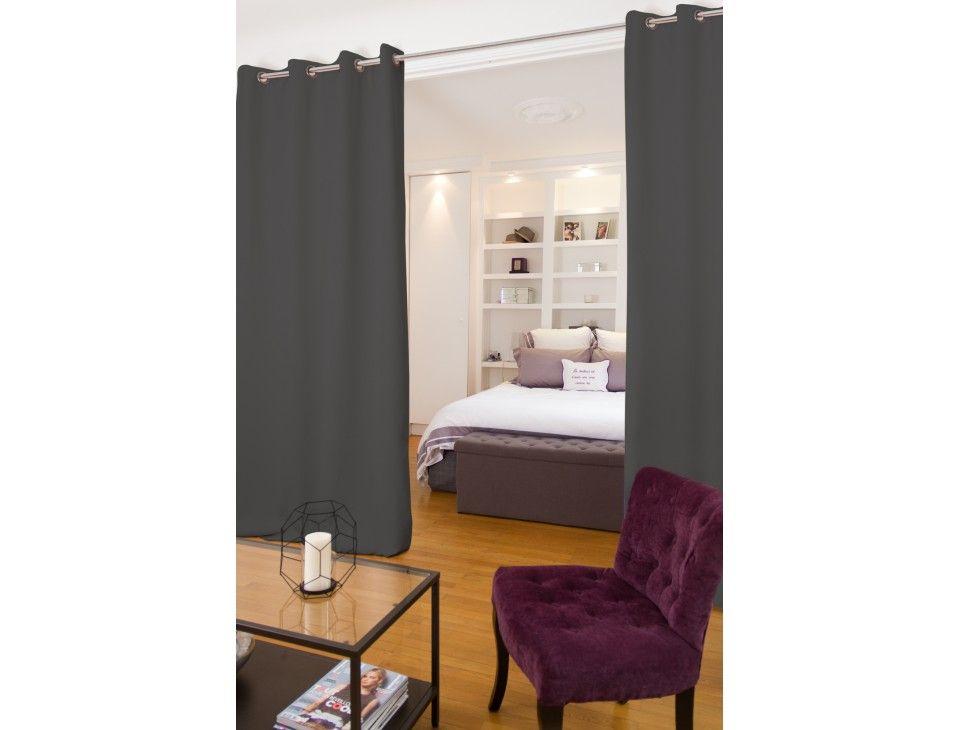 Raumteilervorhang mit Lärmschutz Grau - Moondream Vorhänge ...