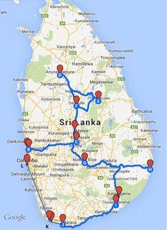 Sri Lanka itinerary Pinteres