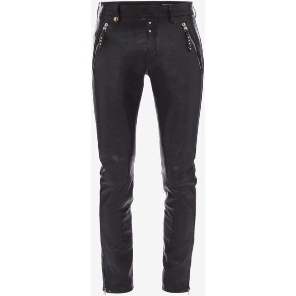slim-fit trousers - Black Alexander McQueen QaNaEX8p4