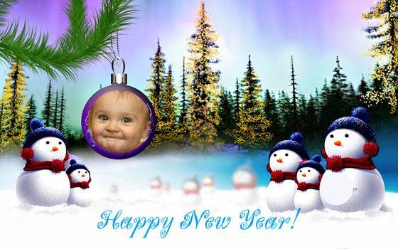 Montajes De Felicitaciones De Navidad.Montajes De Fotos Feliz Ano Nuevo Para Personalizar Gratis