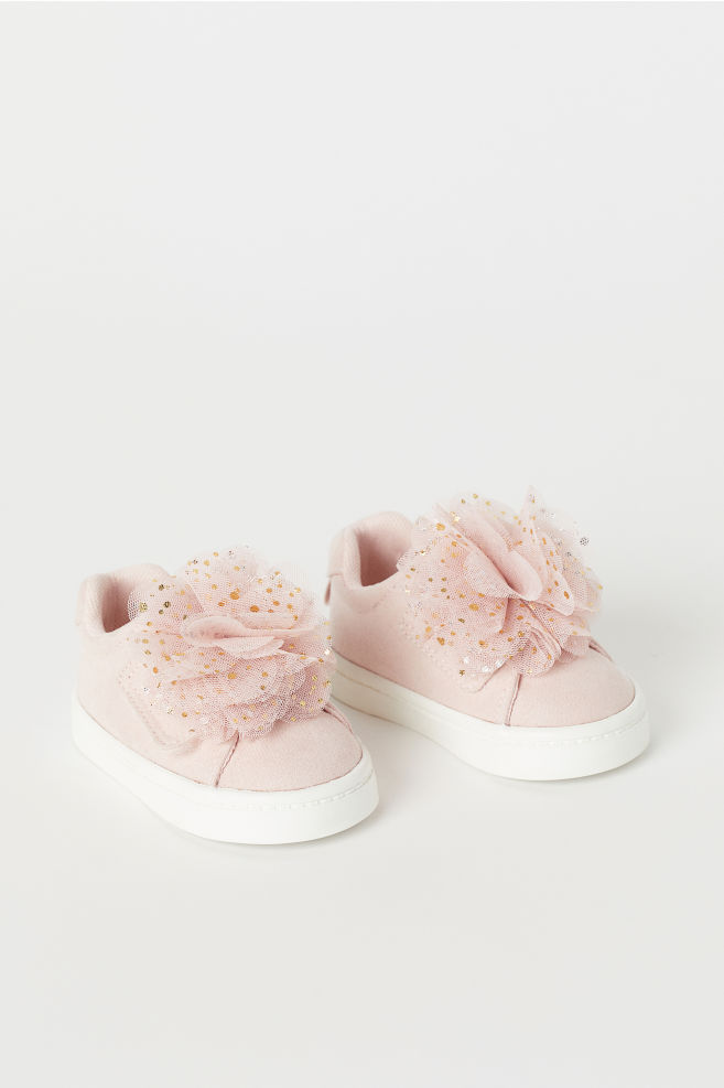 Sneakers With Pompoms Powder Pink Kids H M Us Cute Baby Shoes Baby Girl Shoes Nike Shoes Girls