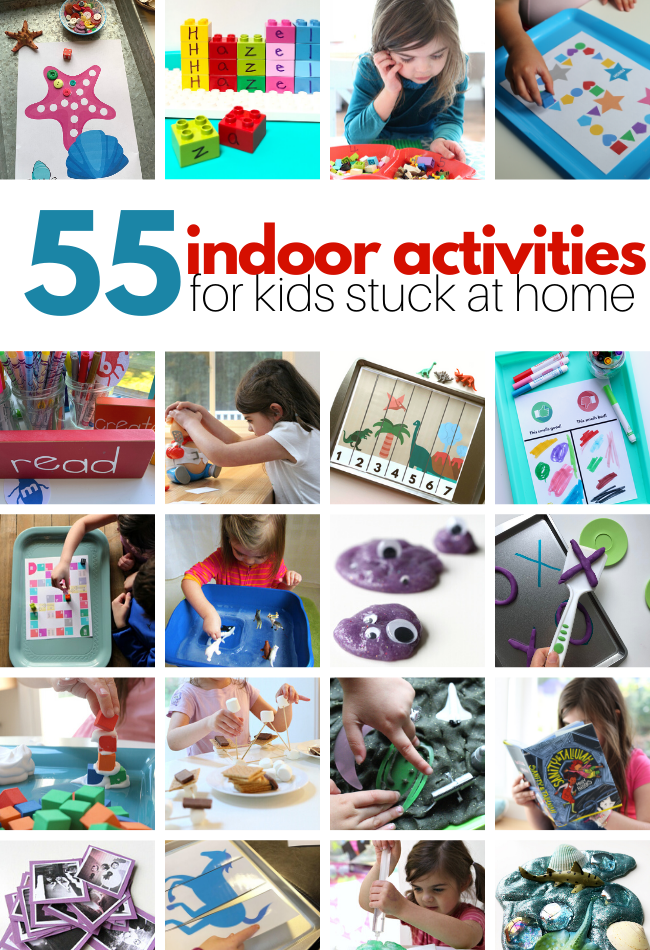 55 Indoor Activities For Kids At Home No Time For Flash Cards In 2020 Indoor Activities For Kids Fun Indoor Activities Toddler Activities