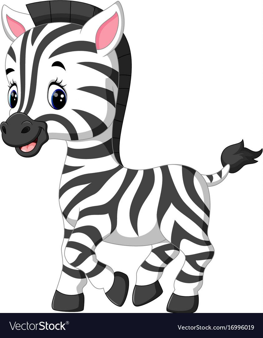 Illustration Of Cute Zebra Cartoon Download A Free Preview Or High Quality Adobe Illustrator Ai Eps Pdf And H Zebra Cartoon Zebra Drawing Baby Zebra Drawing