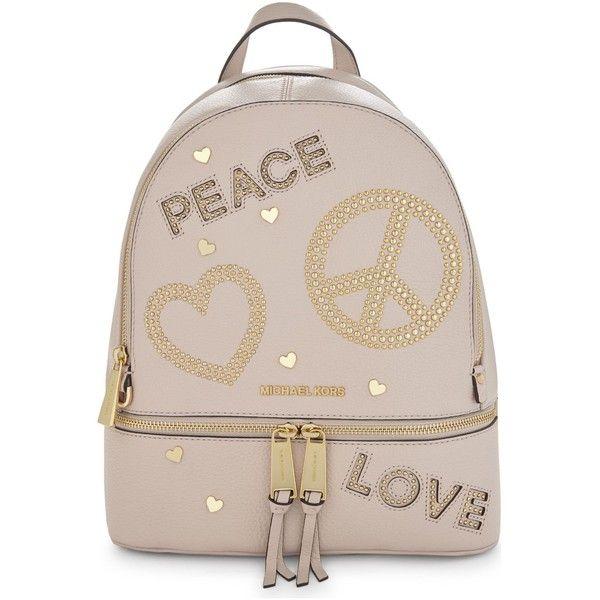 fbaab00e81c3 Michael Michael Kors MMK x Jourdan Dunn Rhea leather backpack (345) ...