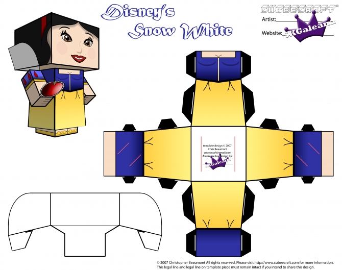 Snow White - Part 2 - Cubeecraft - Papertoy | craft(クラフト ...