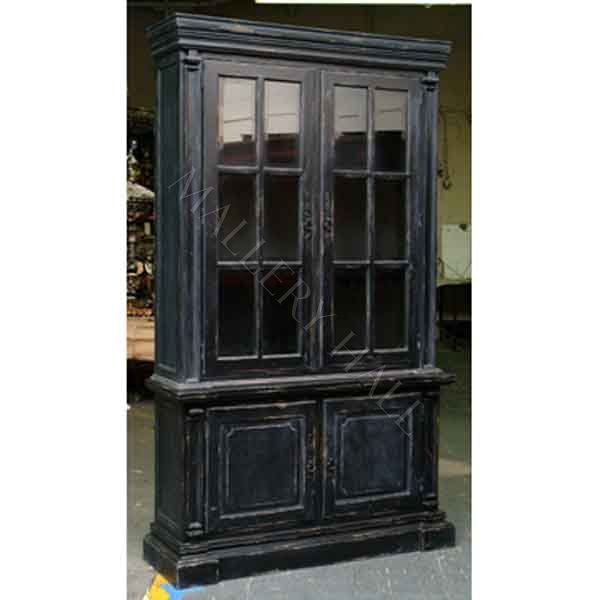 Superior French Country Distressed Black Breakfront Style Cabinet : Mallery Hall    Fine Custom Furnishings From Around The Globe, Distinctive, High End Fine  ...