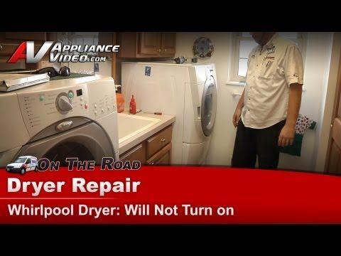 Dryer Repair Will Not Start Whirlpool Maytag Kitchenaid Sears Kenmore Roper Gew9250pw1 Dryer Repair Whirlpool Dryer Electric Dryers