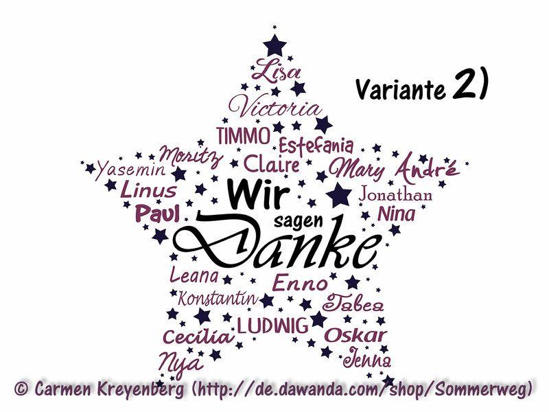 Pdf stern mit namen zum selbstausdrucken erzieherin for Danke erzieherin weihnachten