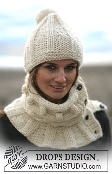 tour de cou et bonnet drops en eskimo drops design crochet pinterest snood tricot. Black Bedroom Furniture Sets. Home Design Ideas