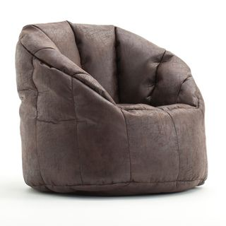 Charming BeanSack Big Joe Milano Faux Leather Bean Bag Chair   Overstock.com  Shopping   The