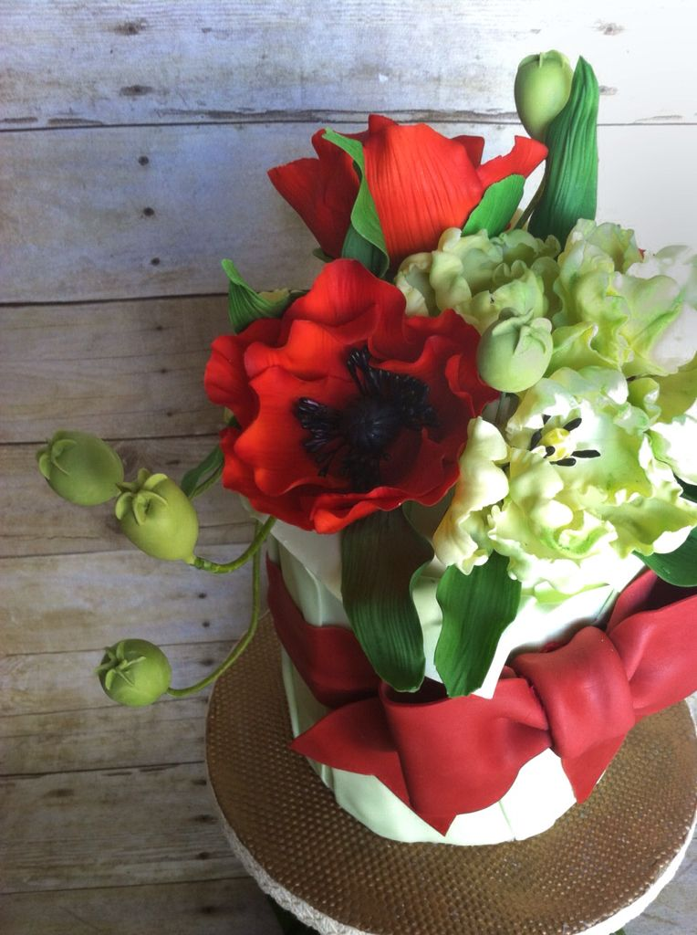 Poppies and Parrot Tulips