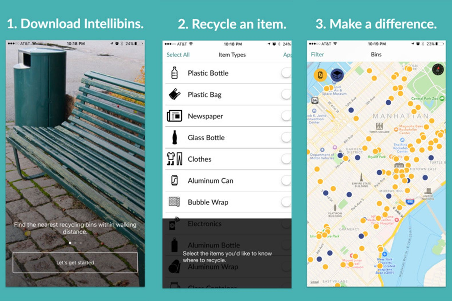 Intellibins Helps You Find Recycling Bins On City Streets