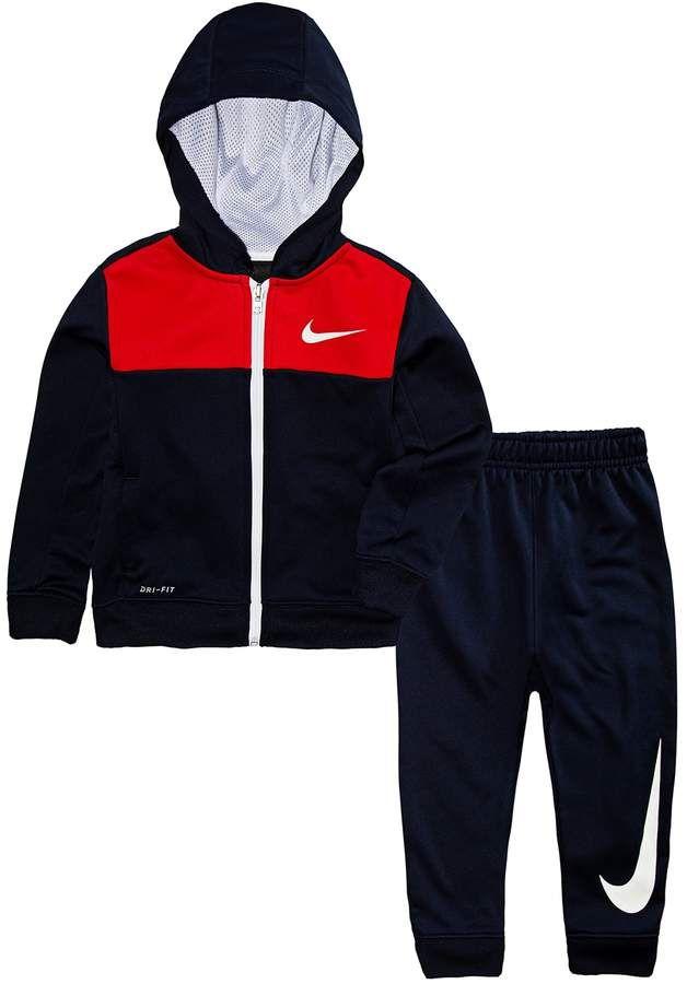 45079fea1 Toddler Boy Nike Dri-FIT Colorblock Zip Hoodie & Jogger Pants Set ...