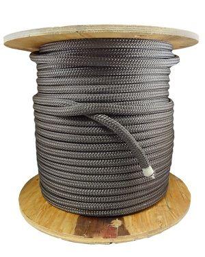 Double Braid Marine Rope Gray