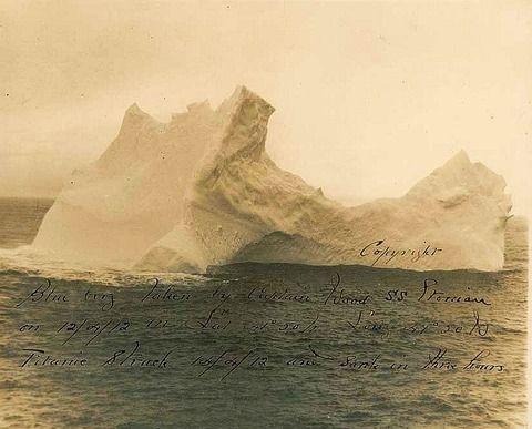 北の国から猫と二人で想う事 livedoor版:これがタイタニックを沈めた氷山の写真 米国
