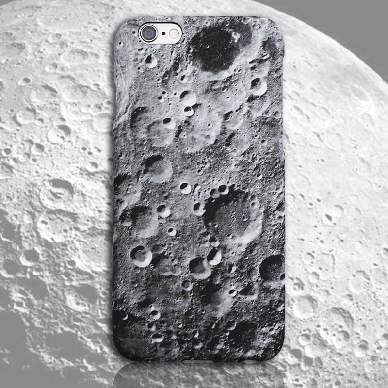 Skin STARS Space Moons Surface Map Marble Capa Coque Slim Matte Hard Plastic Phone Case Cover For iPhone 6 6S Plus SE 5 5S