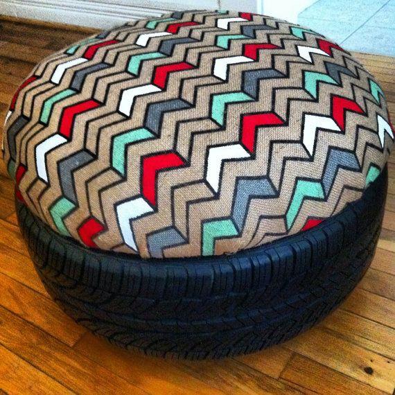 les 25 meilleures id es de la cat gorie pouf pneu sur pinterest pouf de pneu de corde chaises. Black Bedroom Furniture Sets. Home Design Ideas