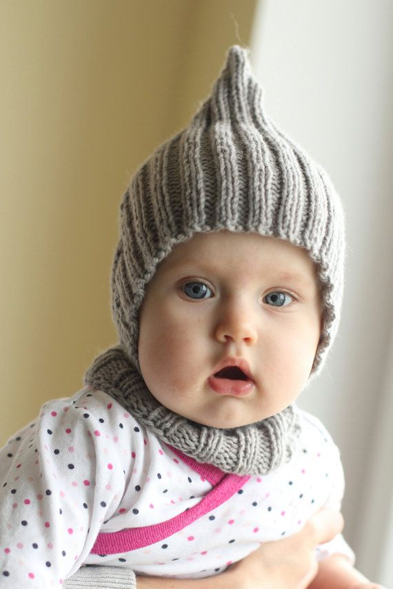 knitted warm soft merino balaclava hood hat with collar 0-6, 6-12, 12-24 months baby hat, scarf, cape, pixie, hood, many colors available