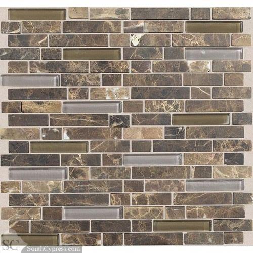 "Cobblestone Backsplash stone radiance 5/8"" x random - wisteria / tortoise blend"