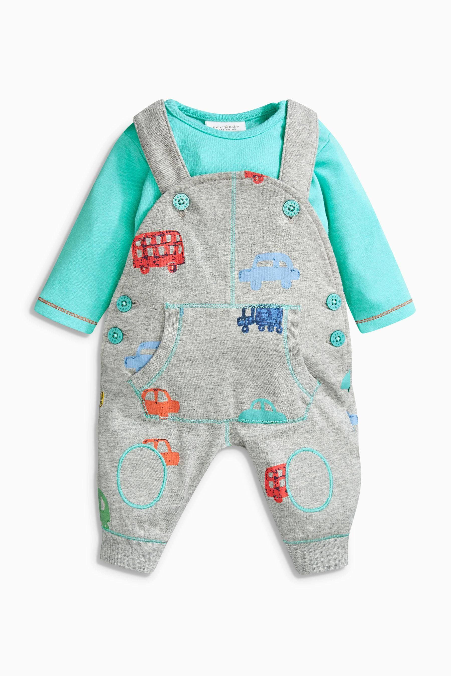 Baby pink dungaree dress  Buy Multi Printed Dungarees And Bodysuit Set mthsyrs from the