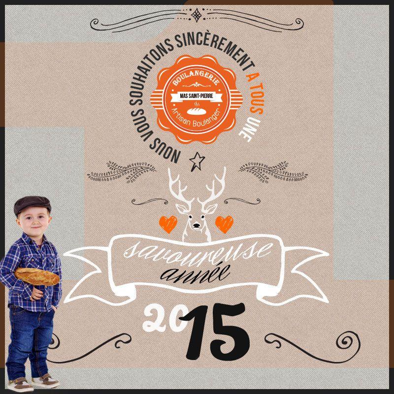 Meilleurs Vœux 2015 - http://www.boulangeriemassaintpierre.fr/meilleurs-voeux-2015.php