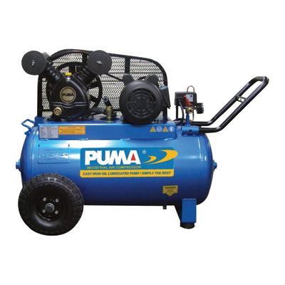 Puma Oil Lube Belt Drive Single Stage Portable Air Compressors 2 Hp 20 Gallon Horizontal 5 5 Cfm Model Portable Air Compressor Air Compressor Belt Drive