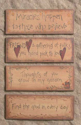 Thoughts\' Primitive Country Wood Signs Set of 4 | Craft Ideas ...