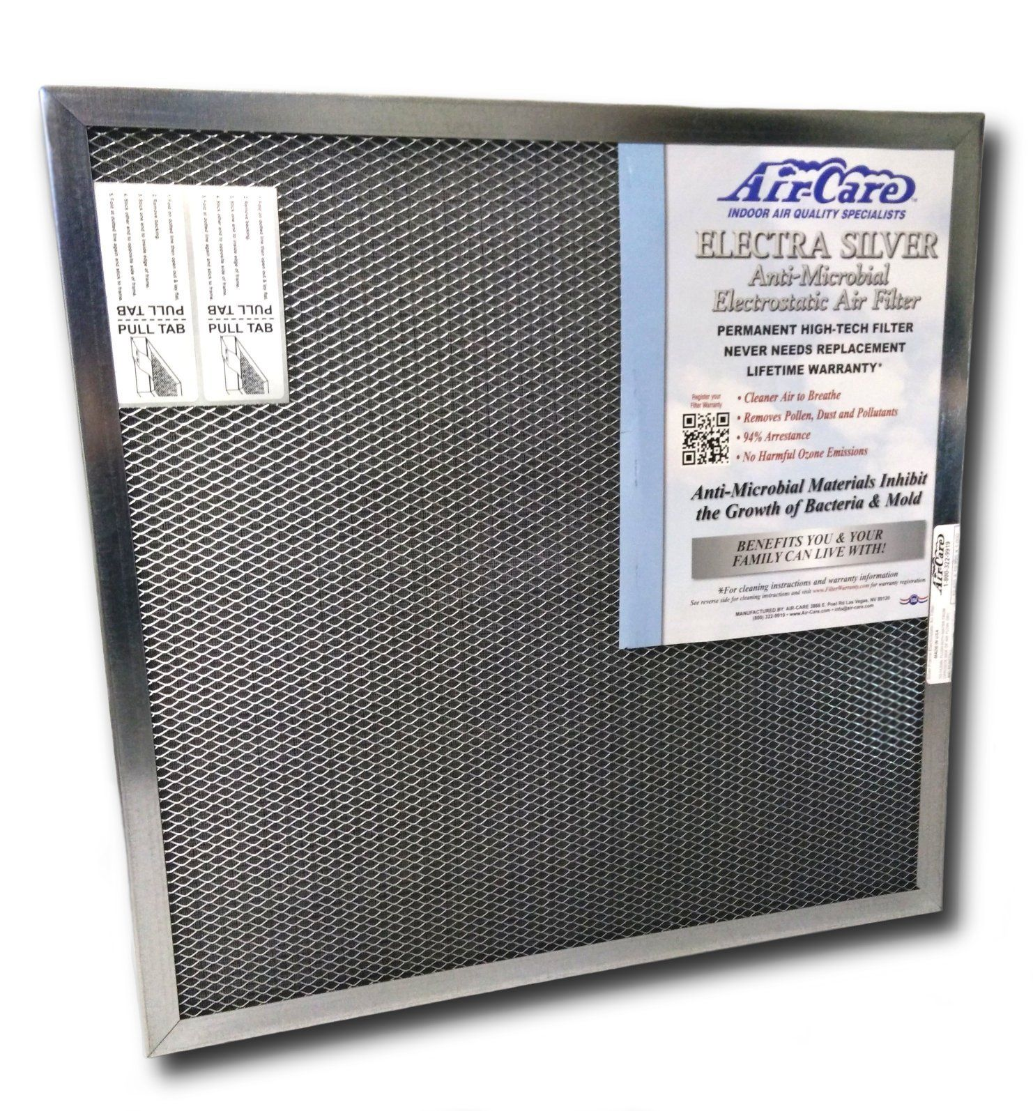 16x20x1 Electrostatic Washable Permanent A/C Furnace Air