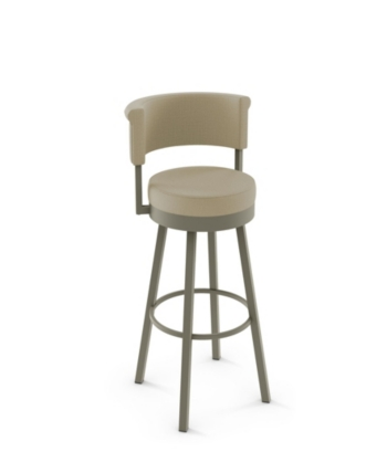Amisco Rosco Swivel Stool Overmax Open White With Images