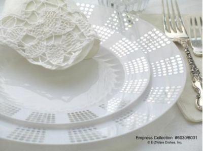 plastic tableware for wedding | Plastic Plates-Divine Empress Silver ... Plastic Tableware For Wedding Plastic Plates Divine Empress Silver & Astonishing Plastic Tableware For Wedding Reception Ideas - Best ...