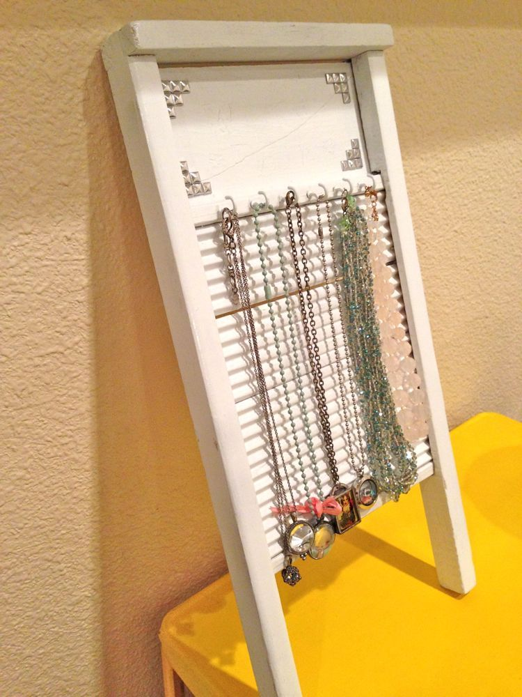 diy washboard necklace holder diy pinterest