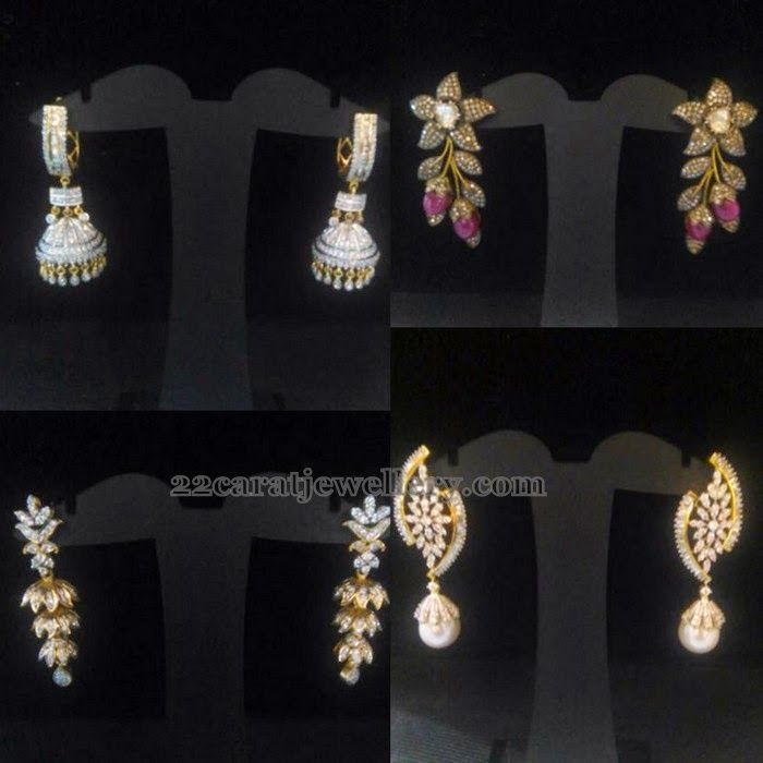 Simple Diamond Earrings   Diamond, Ear rings and Indian jewelry