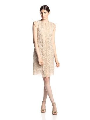 Valentino Women's Embroidered Floral Dress (Beige)